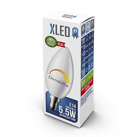 Xled E14 5.5W Dimmable 01