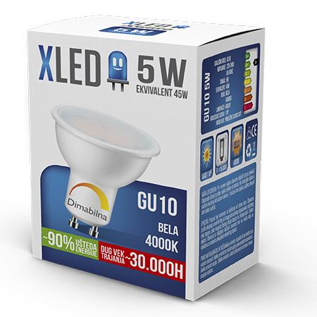 Xled GU10 5W 4000K