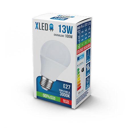 Xled E27 13W 3000K