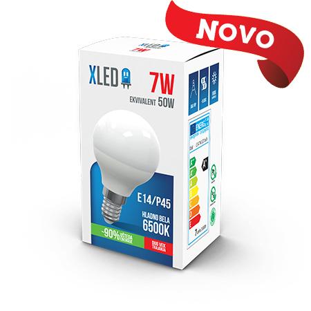 Xled E14 7W P45 6500K HB 01