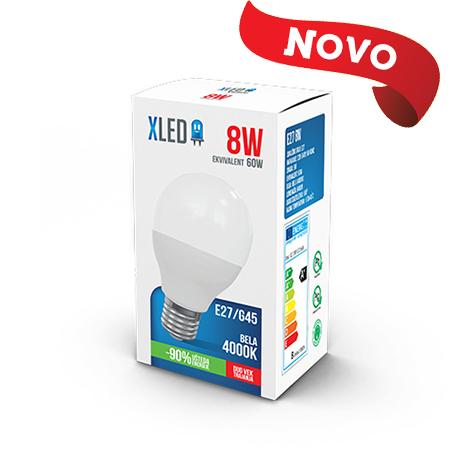 Xled E27 8W G45 4000K NB 01