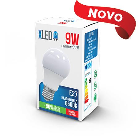 Xled E27 9W 6500K HB 01