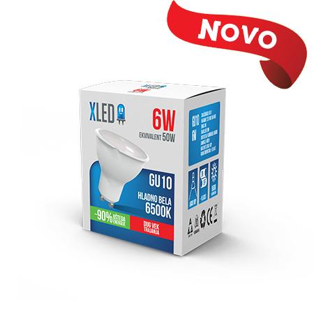 Xled GU10 6W 6500K HB 01