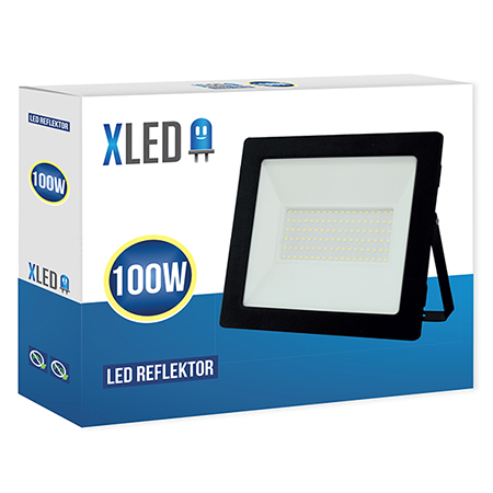 XLED 100W floodlight led reflektor black 01