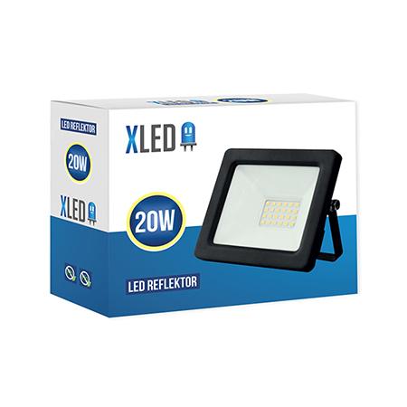 XLED 20W floodlight led reflektor black 01