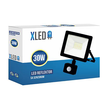 XLED 30W-S PIR floodlight led reflektor black 01