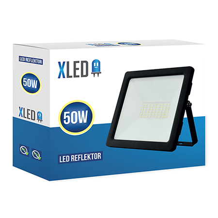 XLED 50W floodlight led reflektor black 01